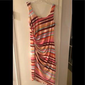 London Times Dresses - Beautiful Multi-colored Striped London Times Dress